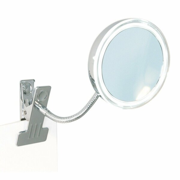 Esperon Clamp Round LED Makeup/Shaving Mirror by Winston Porter