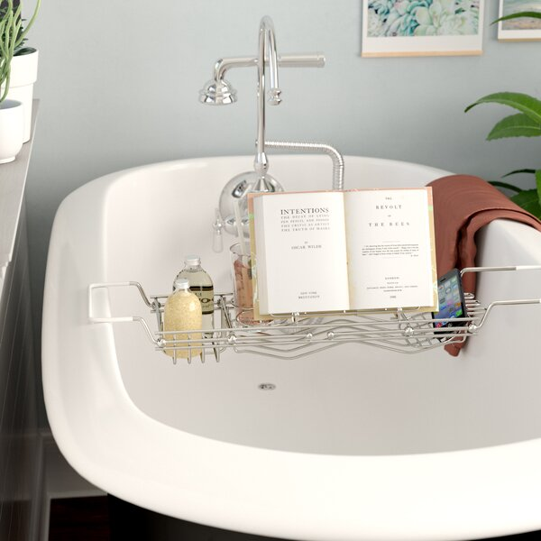 Stainless Steel Bath Caddy by Rebrilliant