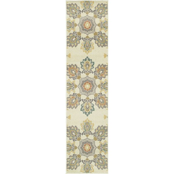 Buenrostro Ivory Indoor/Outdoor Area Rug by World Menagerie