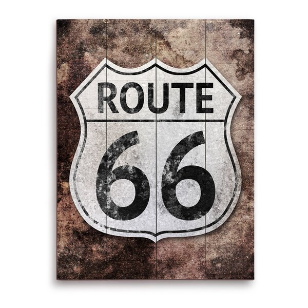 Rustic Route 66 Memorabilia on Plaque by Click Wall Art