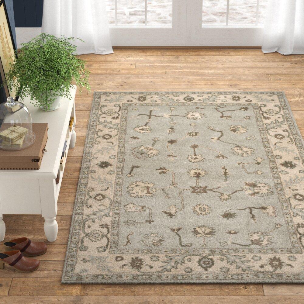 Birch Lane Zellner Oriental Handmade Tufted Wool Beige Gray Area Rug Reviews Wayfair