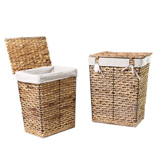 Order 2 Piece Wicker Laundry Set By Adeco Trading
