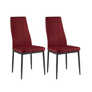 cerise modern wood upholstered dining chair set of 4 - Dining Chairs Set Of 4