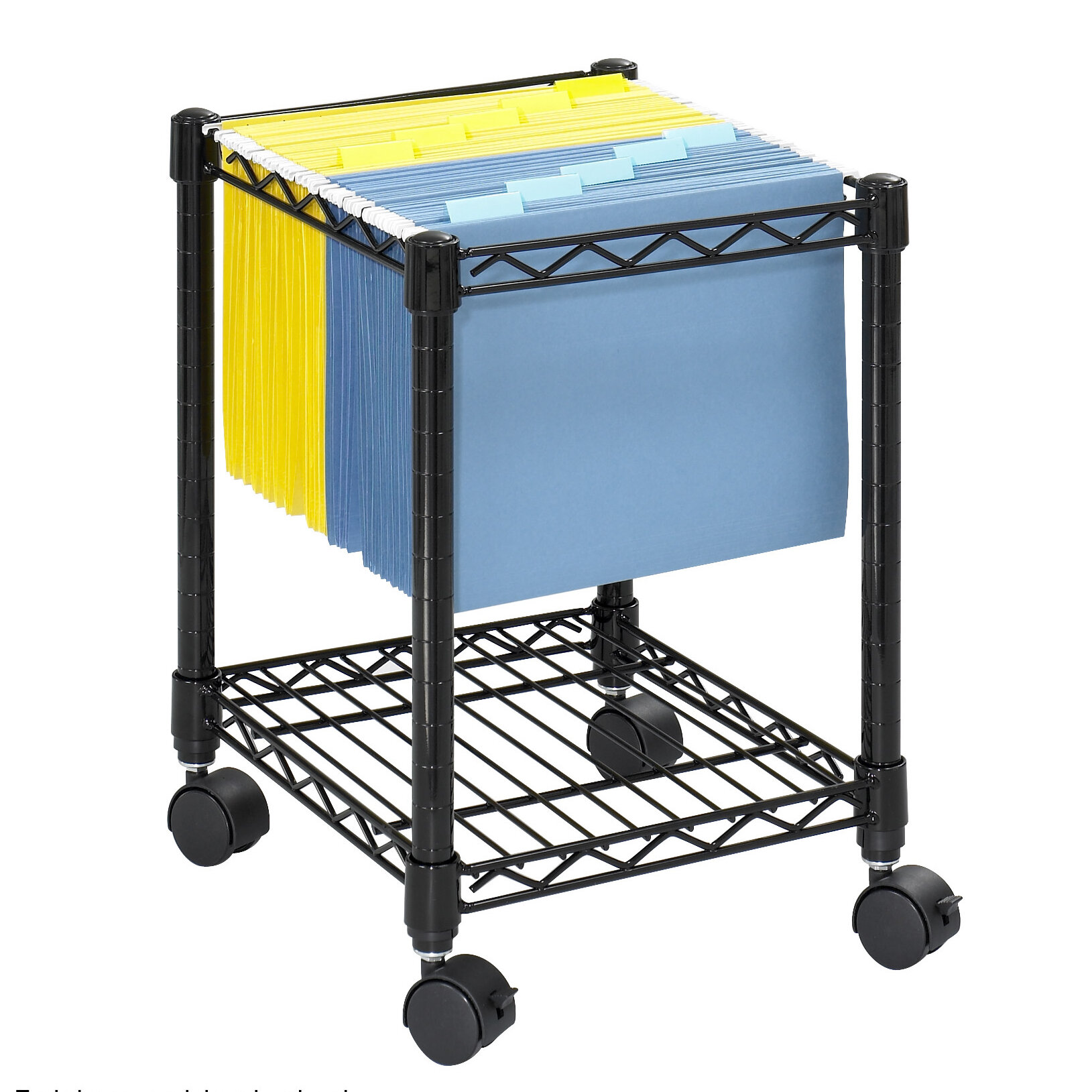 Safco Products Compact Mobile Wire File Cart & Reviews | Wayfair.ca