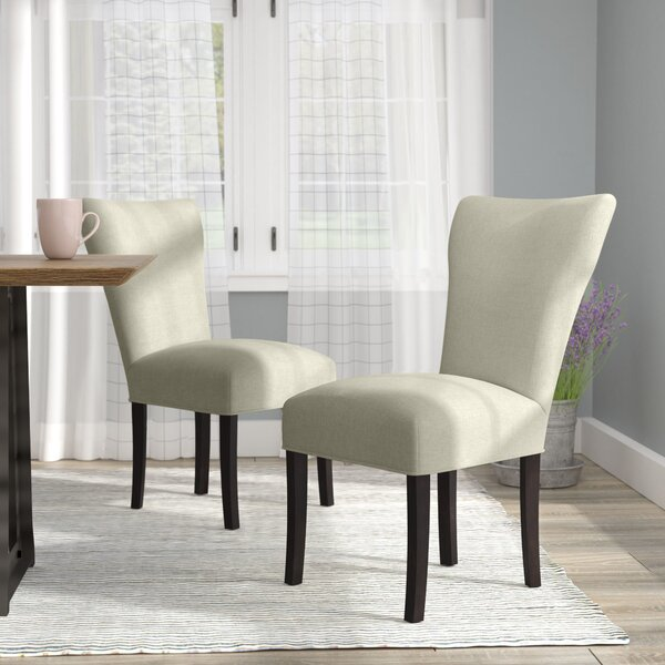 Lorie Seating Double Dow Upholstered Parsons Chair (Set of 2) by Laurel Foundry Modern Farmhouse