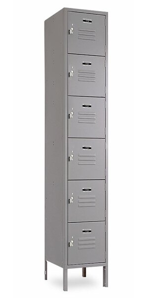6 Tier 1 Wide Employee Locker by Jorgenson Lockers