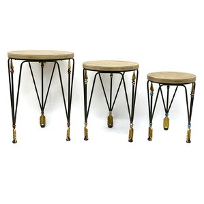 Yahud 3 Piece Nesting Tables by Jeco Inc.