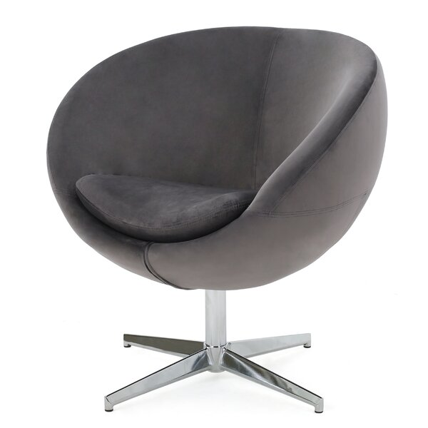 Ted Swivel Barrel Chair by Wade Logan