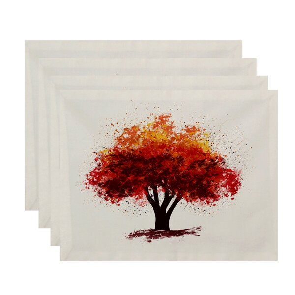 Brookfield Fall Bounty Floral Print Placemat (Set of 4) by Loon Peak