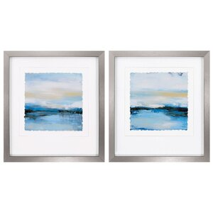 Dreaming Blue 2 Piece Framed Painting Print Set by Propac Images