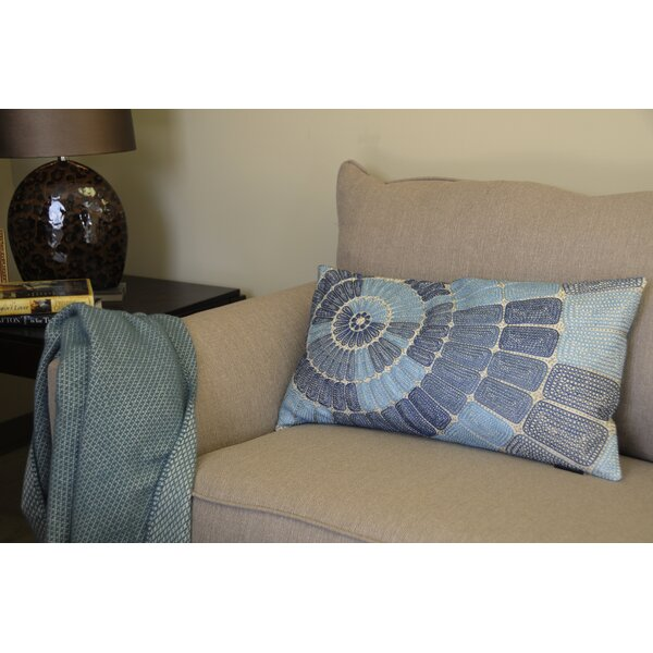 Henderson Concentric Circle Embroidered Cotton Lumbar Pillow by Highland Dunes