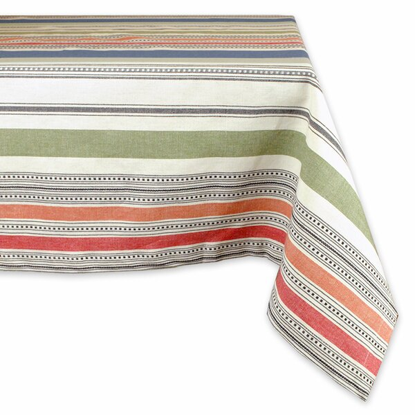 Warm Stripe Tablecloth by Design Imports