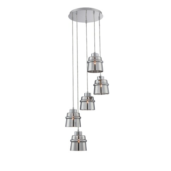 Thaddeus 5-Light Cascade Pendant by Langley Street