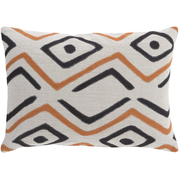 Alona Linen Graphic Print Lumbar Pillow by Bloomsbury Market