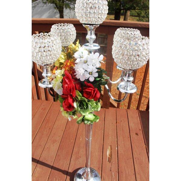 50 Wedding Centerpiece Stainless Steel Candelabra by Rosdorf Park
