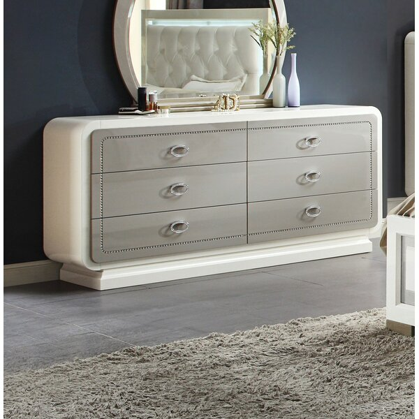 Guion 6 Drawer Double Dresser by Everly Quinn