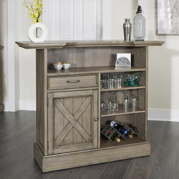 Darin Lodge Bar with Wine Storage by Gracie Oaks Gracie Oaks
