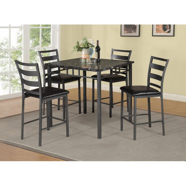 Beringer 5 Piece Counter Height Dining Set by Winston Porter