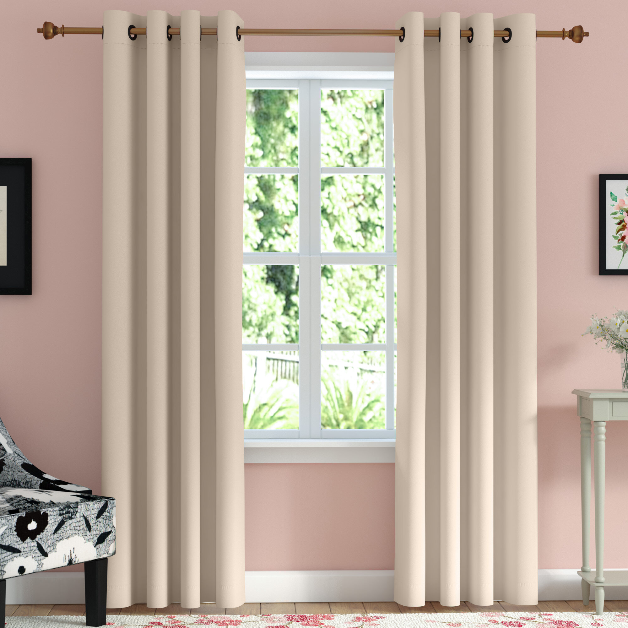 Andover Mills Caples Solid Blackout Thermal Grommet Curtain Panels Reviews Wayfair