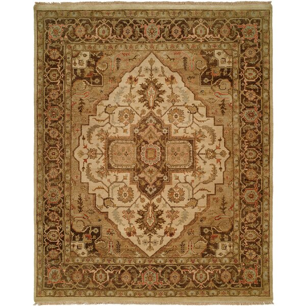 Ho Hand-Knotted Brown/Blue Area Rug by Wildon Home ®