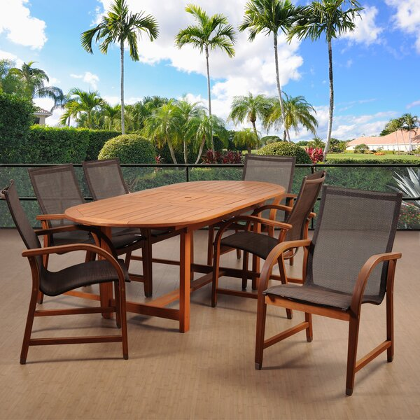 Hillsford 7 Piece Dining Set by Beachcrest Home