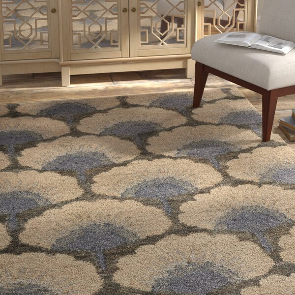 Chappell Hand-Knotted Beige/Gray Area Rug by Bloomsbury Market