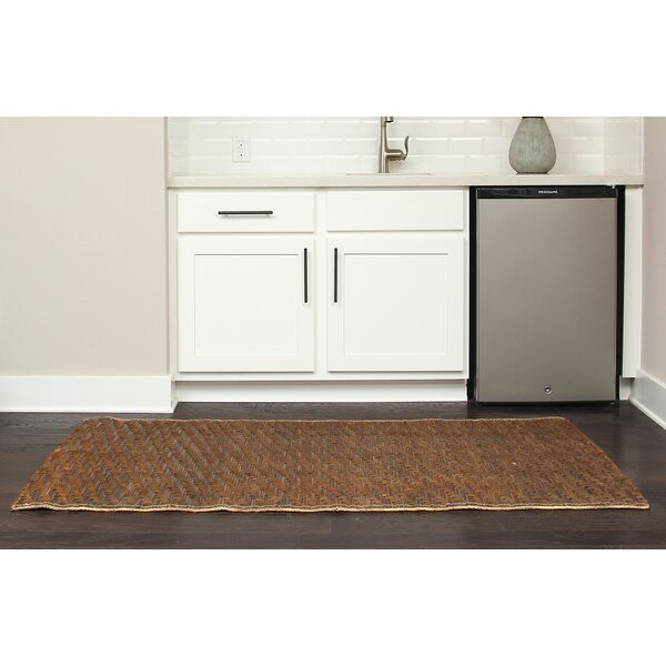 PeoPles Hand-Woven Brown Indoor/Outdoor Area Rug by Bay Isle Home
