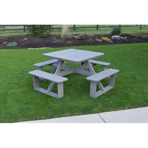 Square Wooden Picnic Table By A&L Furniture