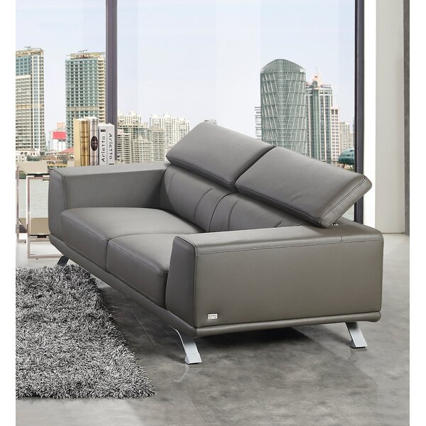Famous Brands Rhea Eco-Leather Sofa by Wade Logan by Wade Logan