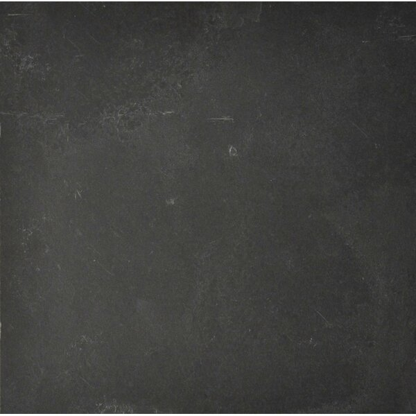 Black Bliss 12 x 12 Slate Field Tile in Black by The Bella Collection