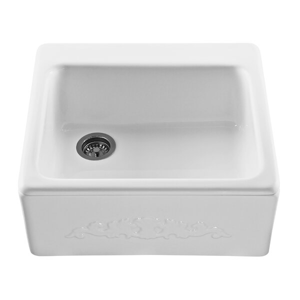 Reliance Embossed 25 L x 22.25 W Farmhouse/Apron Kitchen Sink by Reliance