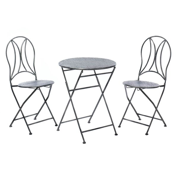 Hammered Textured 3 Piece Bistro Set by Zingz & Thingz