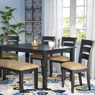 Oneill Modern 6 Piece Upholstered Dining Set