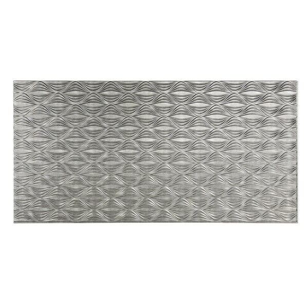 Shallot 48 x 96 PVC Backsplash Panel in Cross Hatch Silver by Fasade