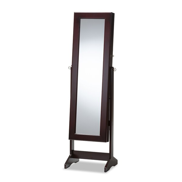 Barleria Wood Jewelry Armoire with Mirror by Latitude Run