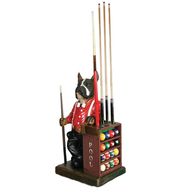 Dog-Pool Cue and Ball Holder by RAM Game Room
