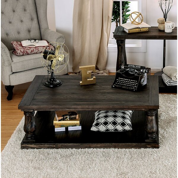Blackfriars Coffee Table with Wooden Top by Canora Grey