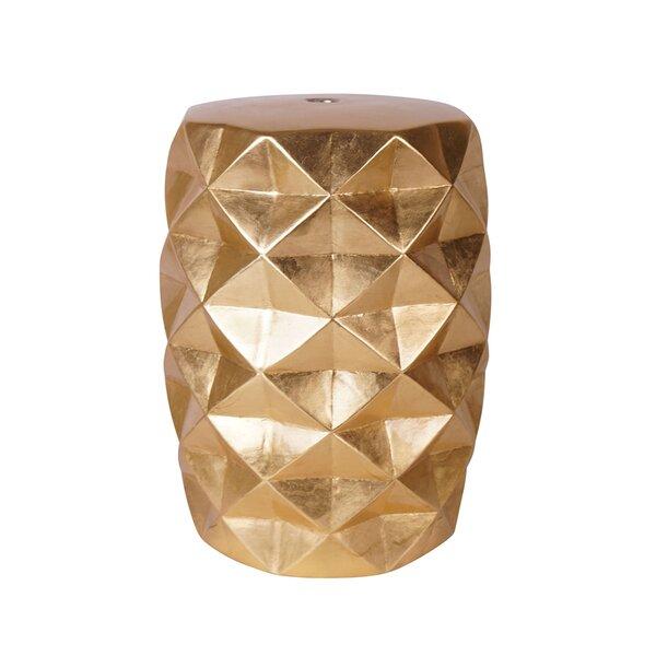 Giraldo Geometric Patterned Ceramic Garden Stool by Wrought Studio