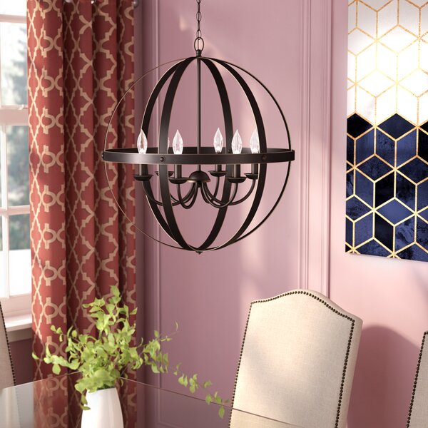 Joon Indoor 6-Light LED Globe Chandelier by Willa