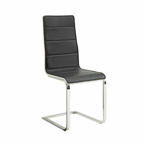 Umaiza Tufted Upholstered Side Dining Chair in Black/Silver (Set of 4) by Orren Ellis Orren Ellis