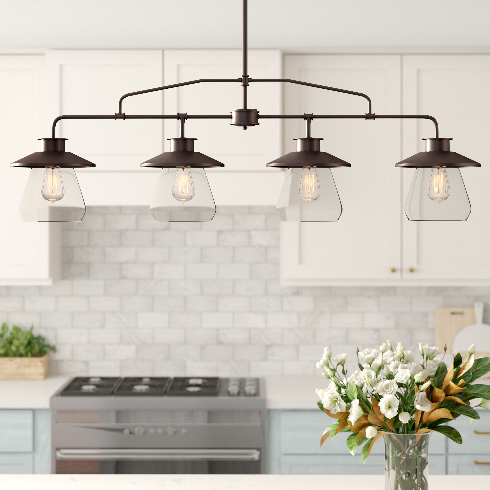 Ledbury 4 Light Kitchen Island Pendant