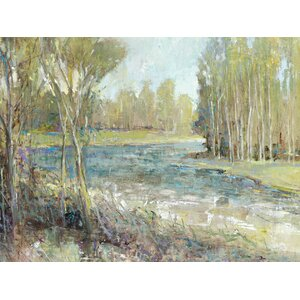 'Gentle Banks' Painting Print on Wrapped Canvas by Red Barrel Studio