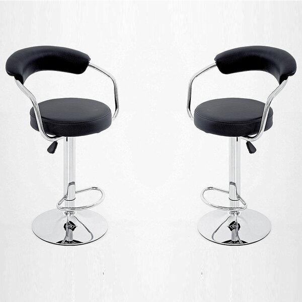 Carrero Adjustable Height Bar Stool (Set of 2) by Orren Ellis