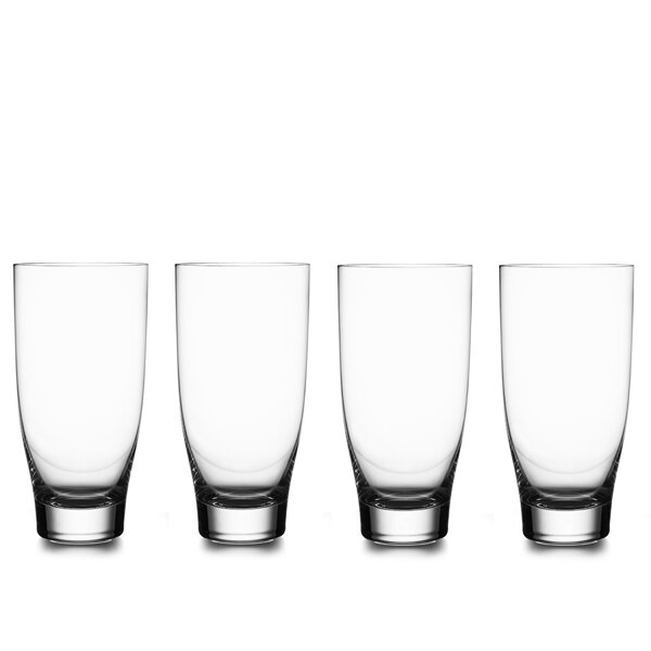 Vie Glass Highball Glasses (Set of 4) by Nambe