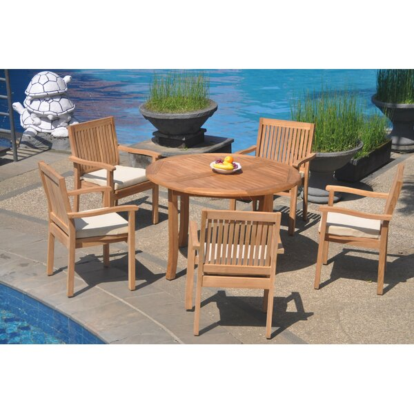 Miral 6 Piece Teak Dining Set by Rosecliff Heights