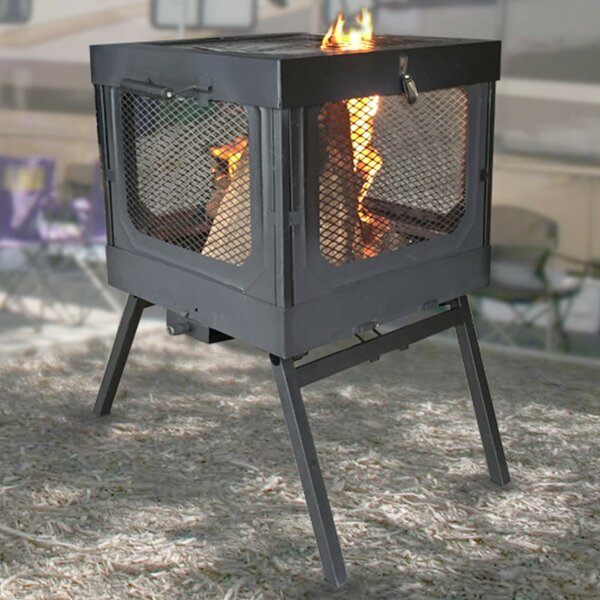 Flame Caddy Steel Wood Burning Fire Pit by Global Outdoors, Inc.