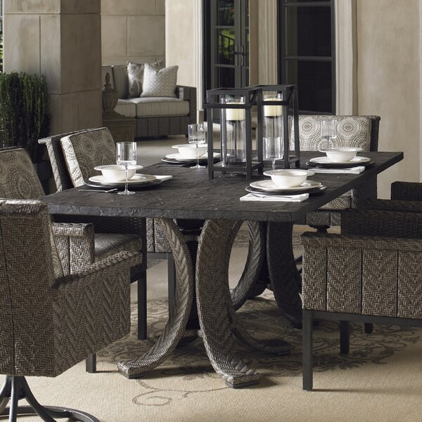 Blue Olive Rattan Dining Table by Tommy Bahama Outdoor