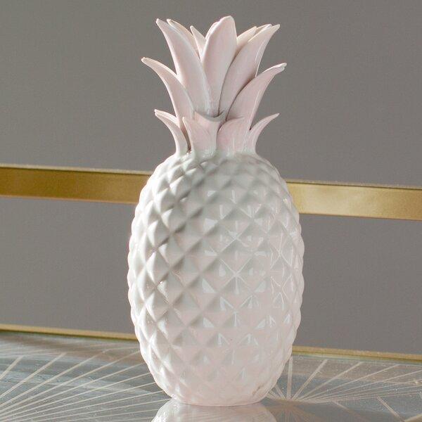 Modern & Contemporary Ceramic Pineapple Figurine by Mercury Row