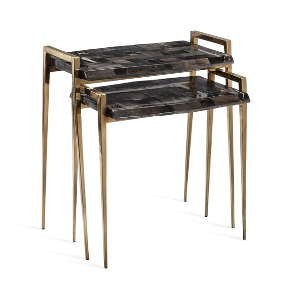 Brees 2 Piece Nesting Tables (Set Of 2) By Interlude
