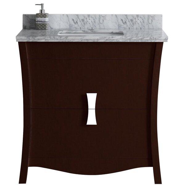 Cataldo Floor Mount 36 Single Bathroom Vanity Set with Single Hole Faucet Mount by Royal Purple Bath Kitchen